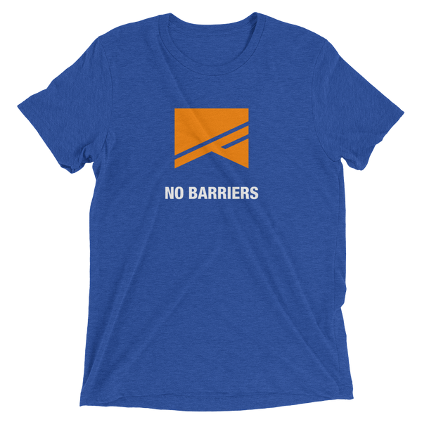 Short Sleeve T-Shirt - 5 Colors! - No Barriers Apparel - True Royal Triblend / XS
