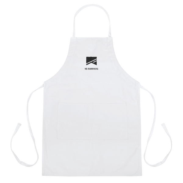 Embroidered Apron - No Barriers Accessories - White