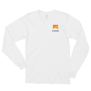 Long Sleeve T-Shirt (unisex) - No Barriers Apparel - White / S