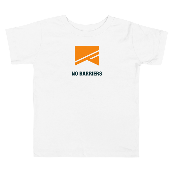 Toddler Short Sleeve T-Shirt - No Barriers Apparel - White / 2T