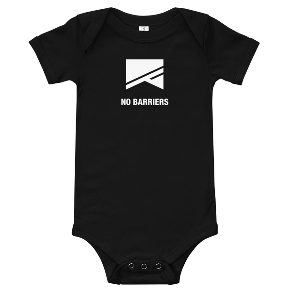 Baby Onesie - No Barriers Apparel - Black / 3-6m