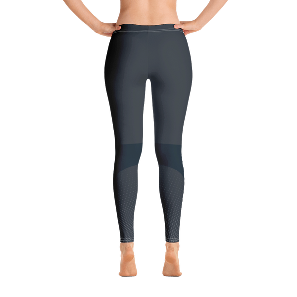 Women's Leggings - Grey/Blue - No Barriers Apparel - XS