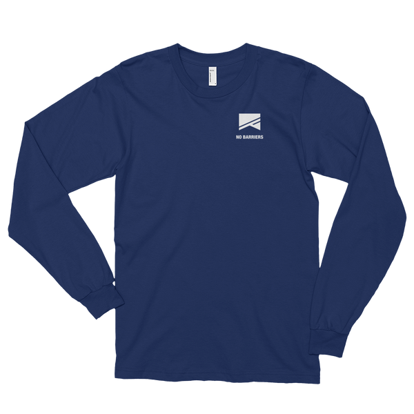 Long Sleeve T-Shirt (unisex) - No Barriers Apparel - Navy / S