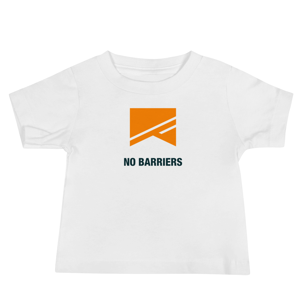 Baby Short Sleeve T-Shirt - No Barriers Apparel - White / 6-12m