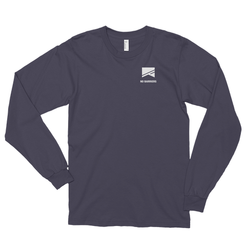Long Sleeve T-Shirt (unisex) - No Barriers Apparel - Asphalt / S