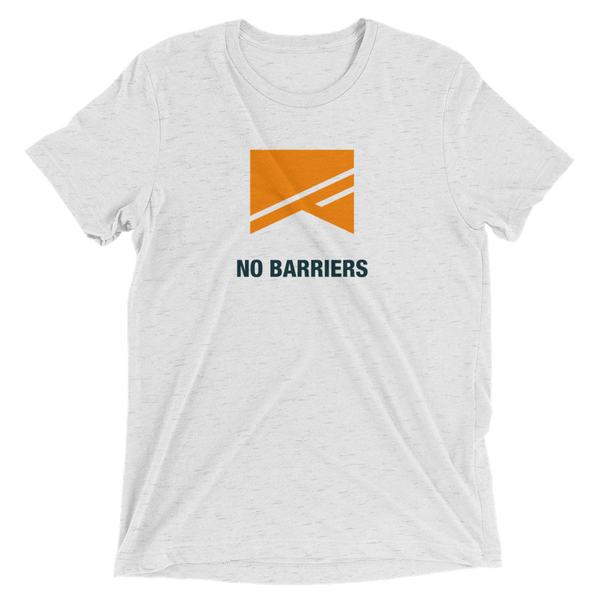 Short Sleeve T-Shirt - 5 Colors! - No Barriers Apparel - White Fleck Triblend / XS
