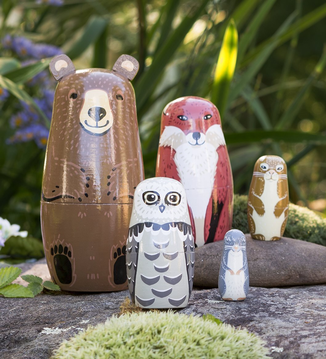 Woodland Nesting Dolls - No Barriers Toys -