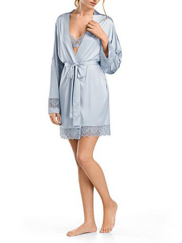 hanro muted blue robe