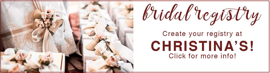bridal registry at christinas