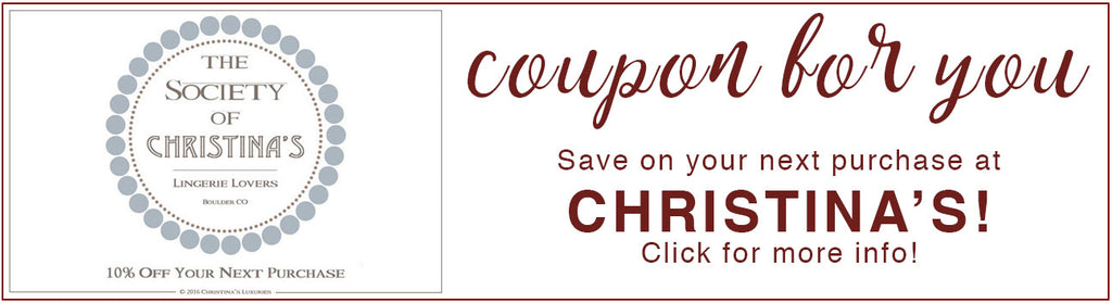 coupon christinas lingerie swim clothing