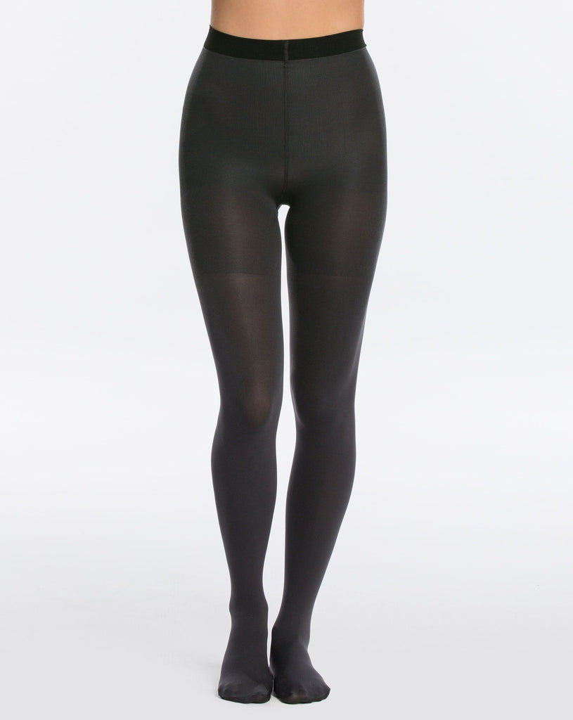 Reversible Mid-Thigh Shaping Tights in Black/Charcoal
