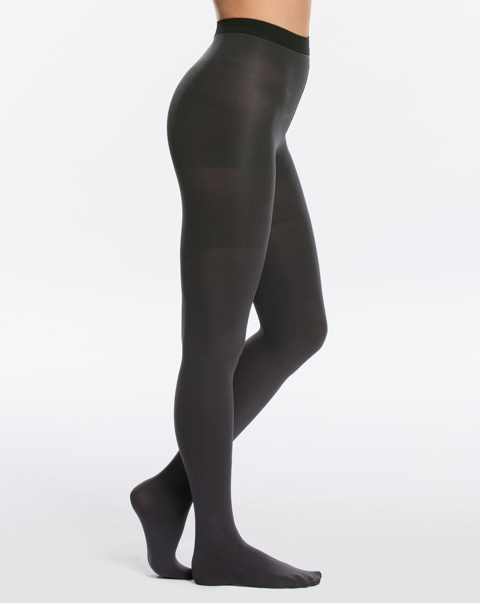 07c3837ba5c Reversible Mid-Thigh Shaping Tights in Black Charcoal