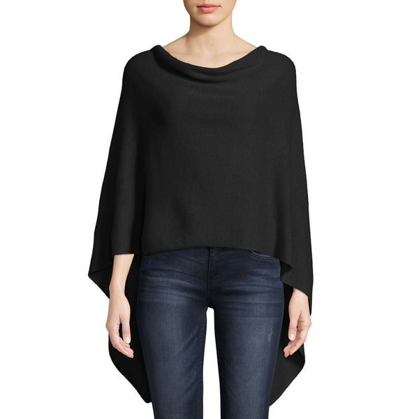 Cashmere Ruana in Black