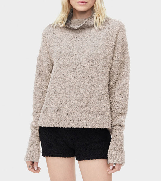 SAGE Turtleneck Sweater in Driftwood