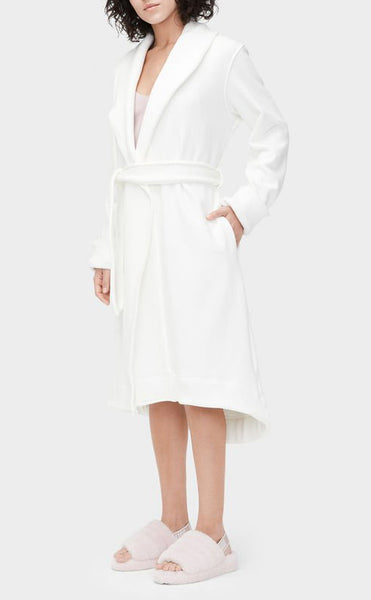 DUFFIELD II Double Knit Fleece Robe in Cream