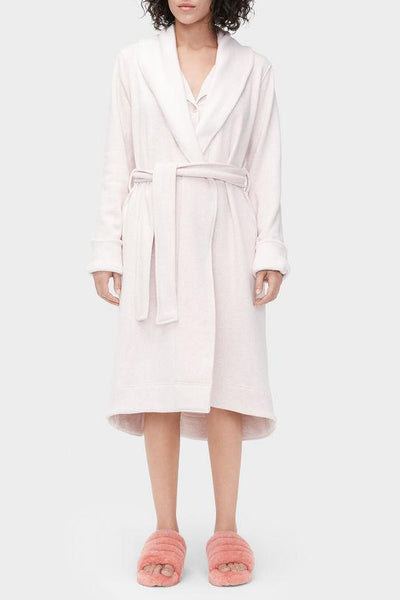 DUFFIELD II Double Knit Fleece Robe in Sachet Pink Heather