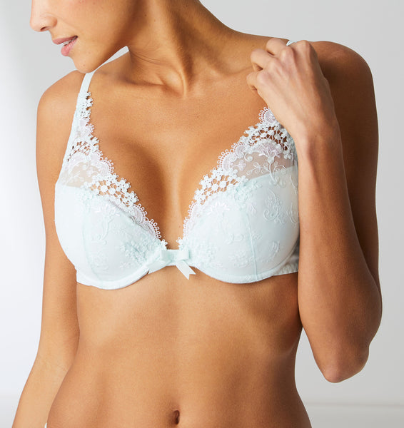 WISH Contour Plunge Push-Up Bra in Sea Green