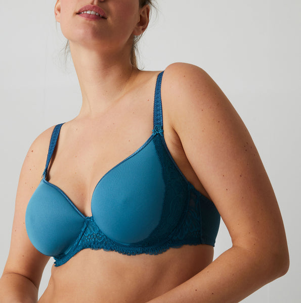 PROMESSE 3D Plunge Bra in Baltic Blue