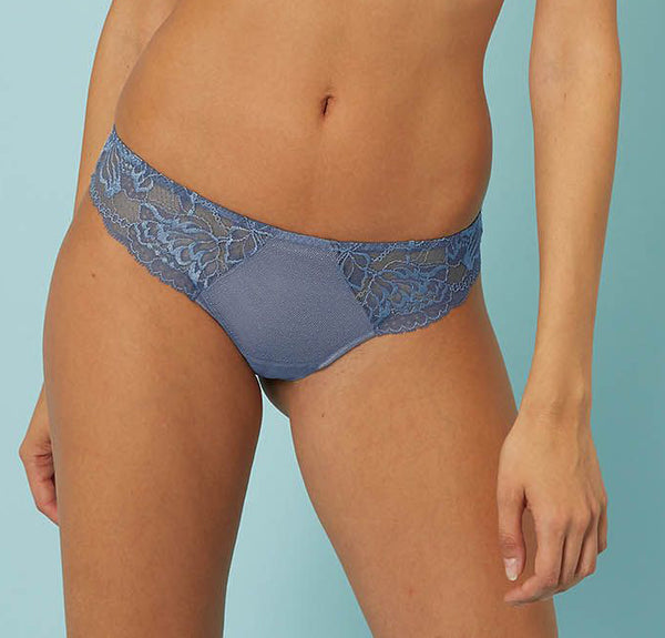 PROMESSE Tanga in Platinum Blue