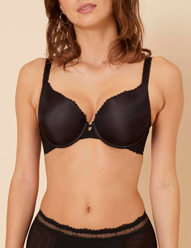 CONFIANCE Contour Plunge Bra in Black