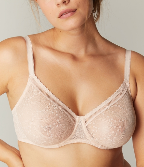 COMETE Full Coverage Underwire Bra in Pink Sand