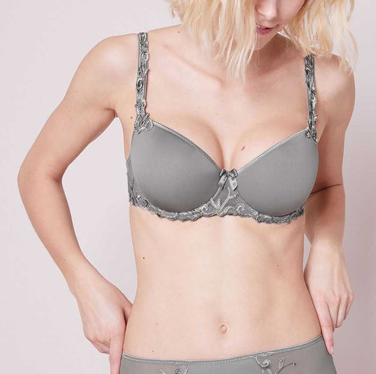 ANDORA 3D Demi Bra in Metallic