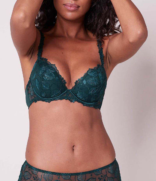 LUMINEUSE Push Up Bra in Peacock