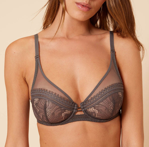 CITADINE Full Cup Plunge Bra in Smoky