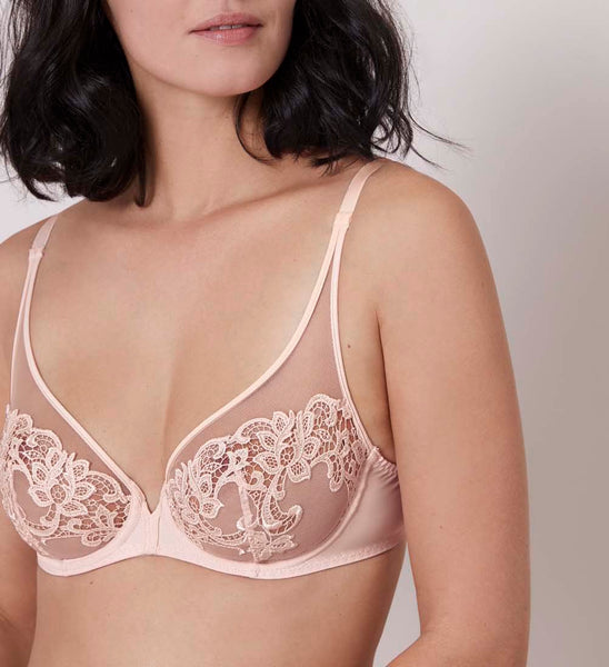 SAGA Full Coverage Plunge Bra in Blush