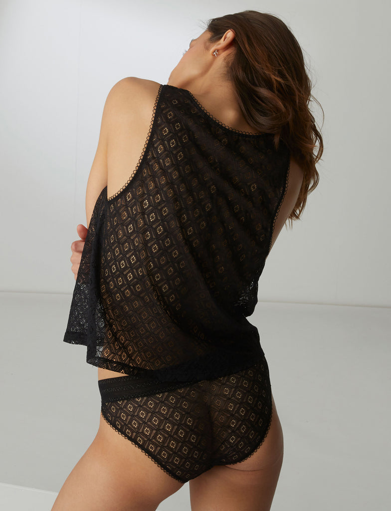 SUZANNE Lace Tank in Black