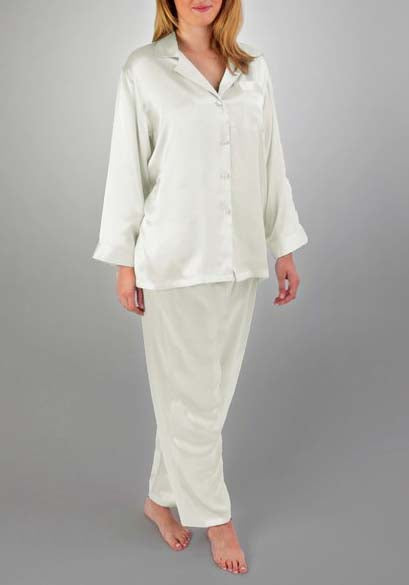HART Classic Silk PJ Set in Porcelain