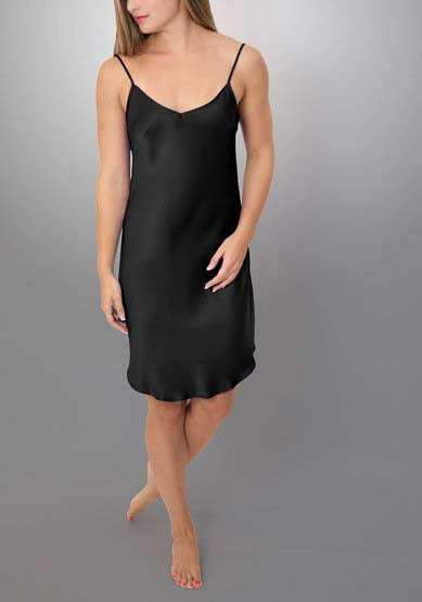 HART Silk Low-Back Chemise in Black