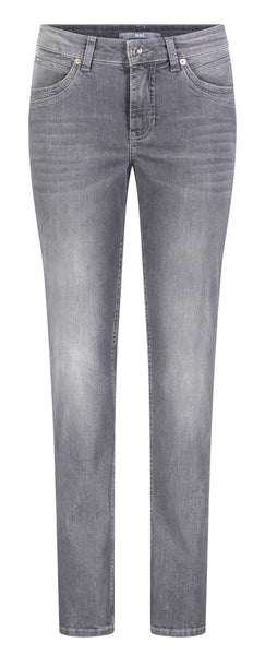 ANGELA Straight Leg Jeans in Dark Grey Used