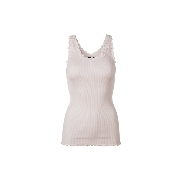 Silk & Lace Tank Top in Soft Rose