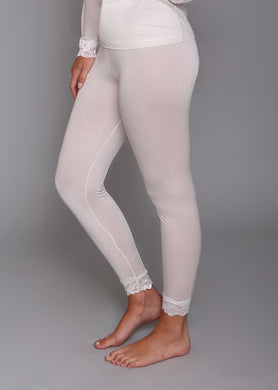 Silk Long John Leggings in Porcelain
