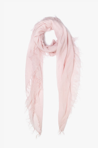 Cashmere & Silk Scarf in Mauve Chalk