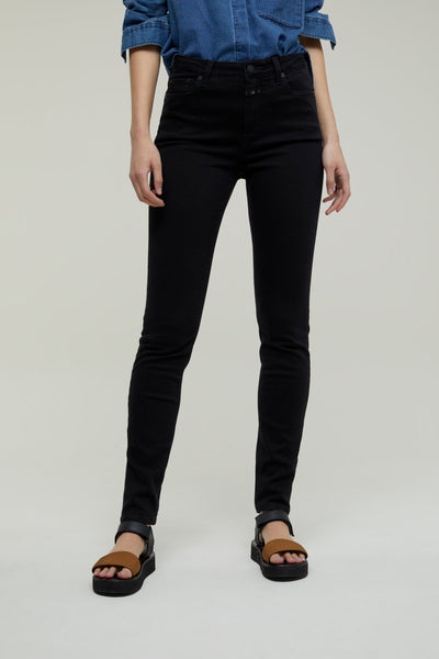 LIZZY Long Power Stretch Denim in Black