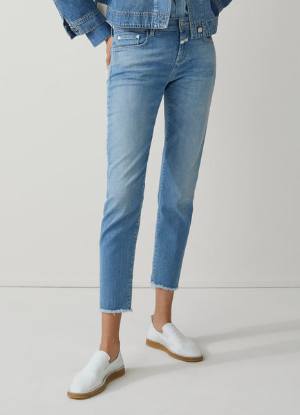 BAKER Soft Stretch Denim in Mid Blue
