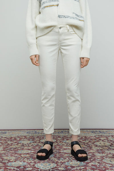 BAKER Velvet Pants in Linen White