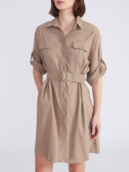 CINZIA Shirtdress in Camel