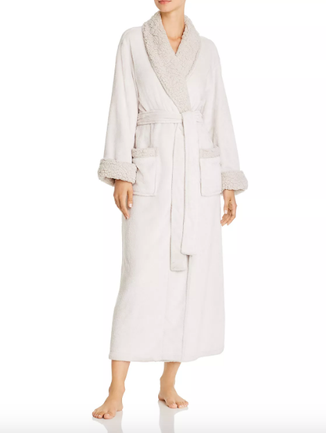 Plush Sherpa Long Robe in Bone