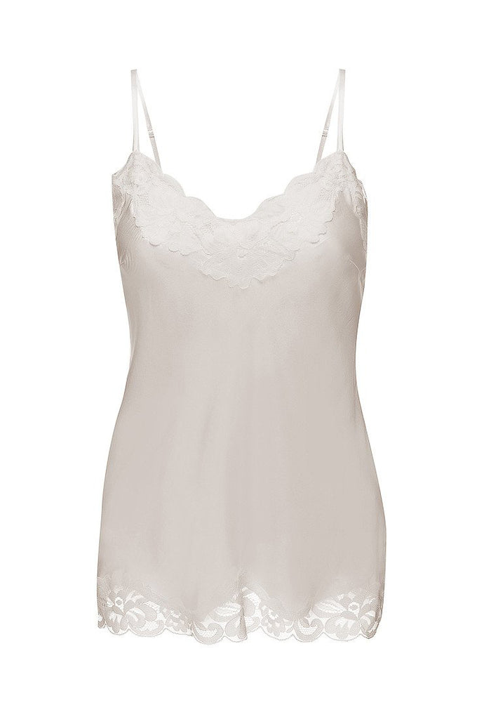 Floral Lace Cami in Dove