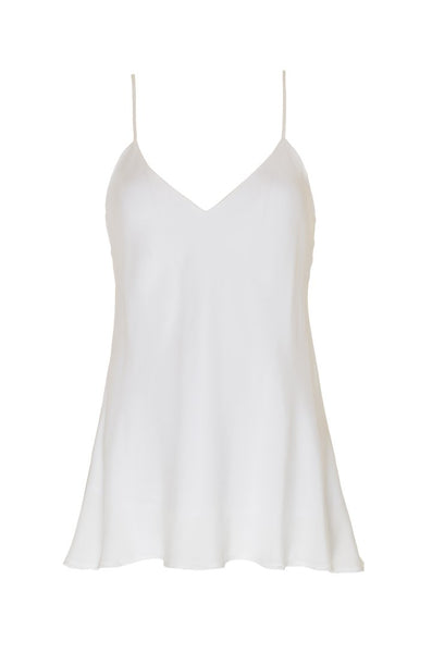 Solid Silk Cami in Bright White