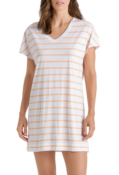 LAURA Night Shirt in Sunny Stripe