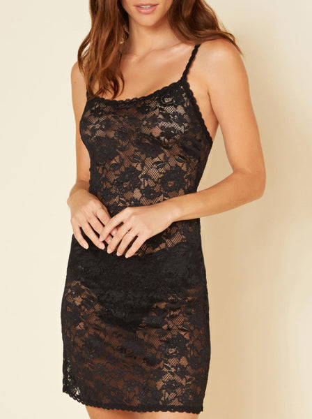 FOXIE Lace Chemise in Black