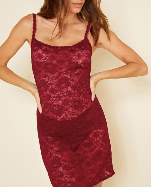 FOXIE Lace Chemise in Deep Ruby