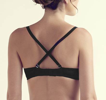 OLIVIA Plunge Convertible Bra in Black