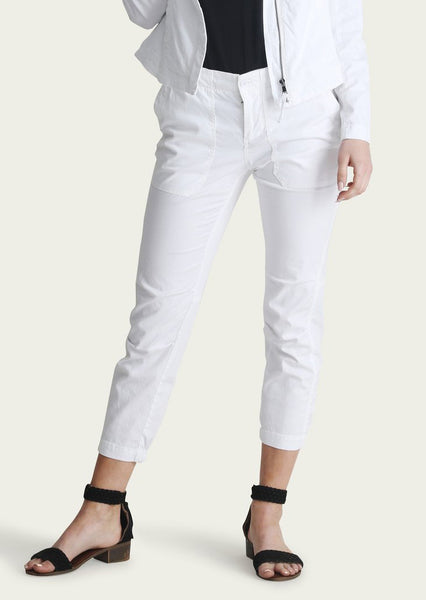 INDIANA Cotton Lyocel Pants in White