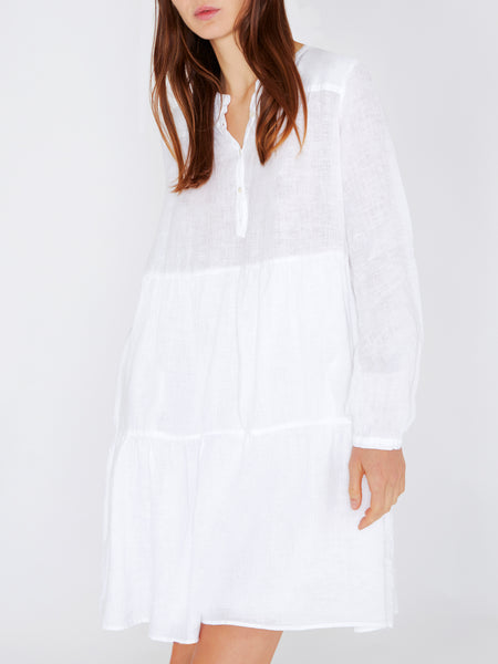 RICARDA NEW Long Sleeve Dress in White