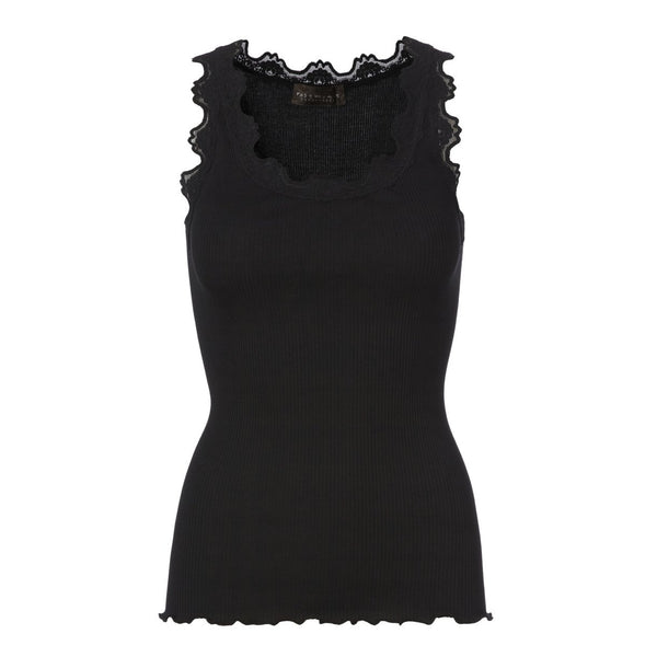 Silk & Lace Top in Black